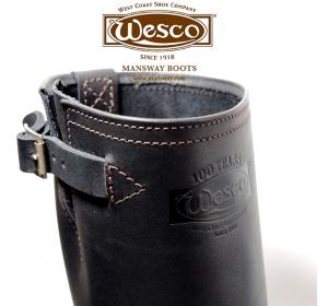 鞋子外面壓 WESCO 100週年 烙印